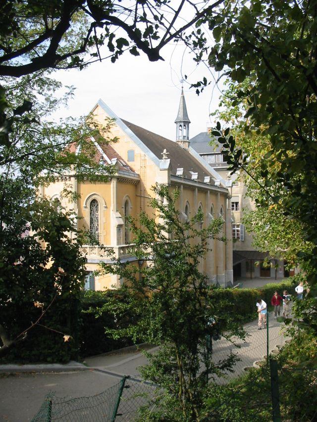 Vue de la Chapelle depuis le parc