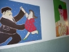 Fresque dans les couloirs